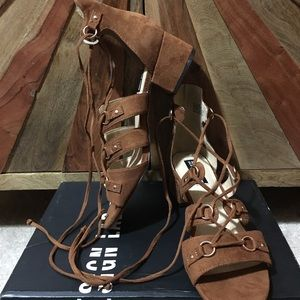 05e5c56f3ae7 Lord   Taylor Design Lab Sandal Lace Up NWOT